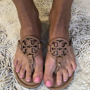 Tory Burch makeup Miller sandals